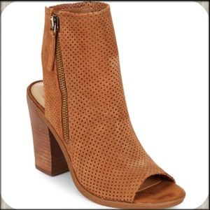 Dolce Vita Brown Open Toe Booties